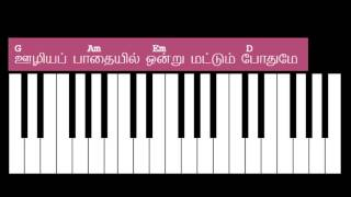 Azhaithavare Azhaithavare Keyboard Chords and Lyrics - G Major Chord
