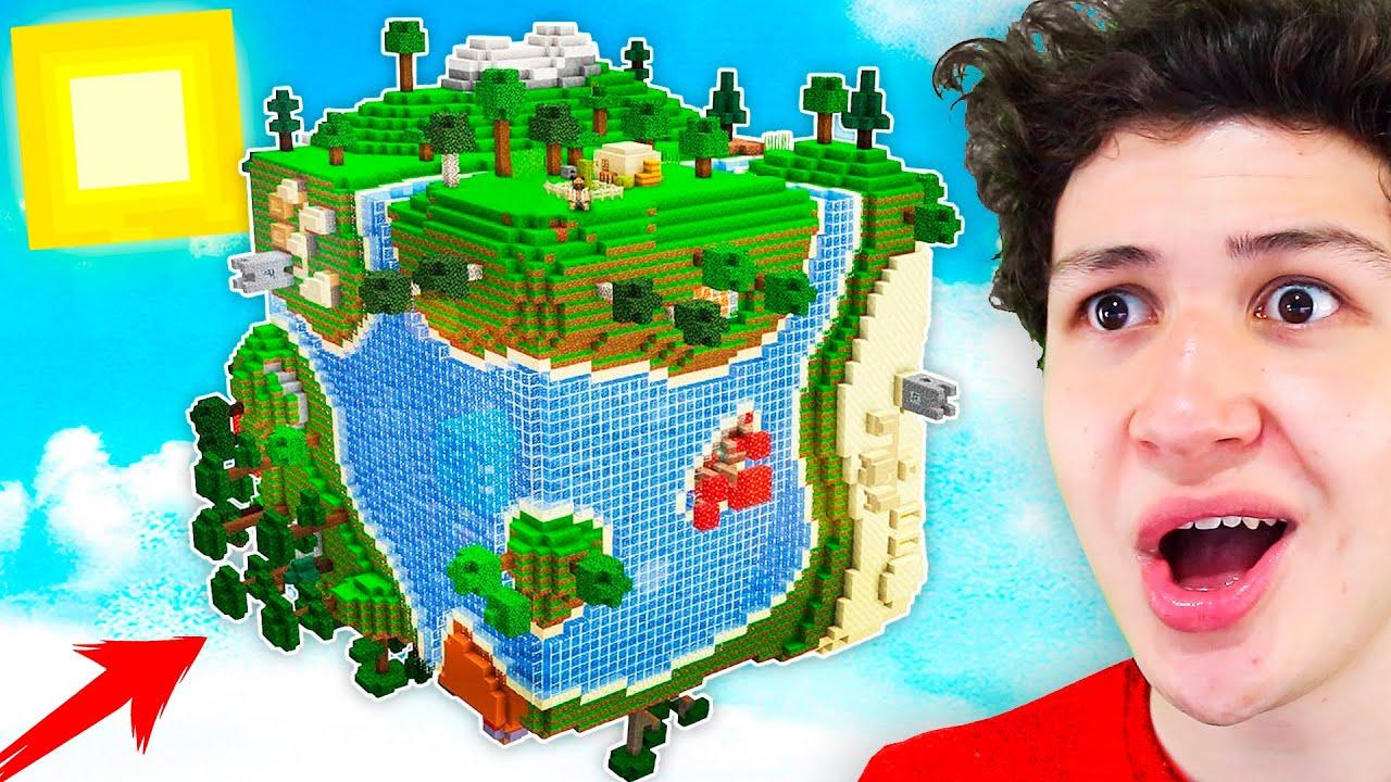 MINECRAFT pero el MUNDO es CUADRADO! *Solo el %1 Sobrevive* Minecraft