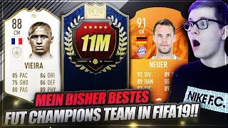 Mein bisher BESTES 11 MILLIONEN FUT CHAMPIONS TEAM! 🔥🔥 Fifa 19 Ultimate Team Squad Builder