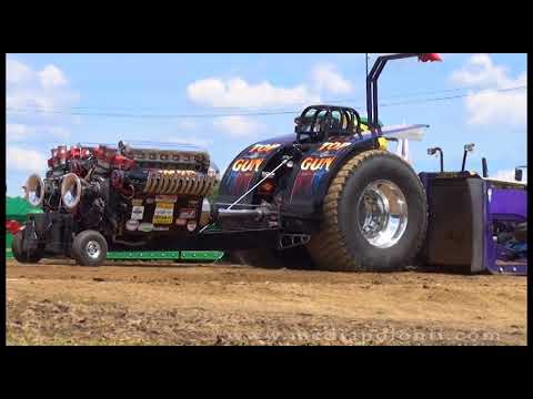 Truck and Tractor Pull Tomah WI, 2018 - Jamie Busch (part1)
