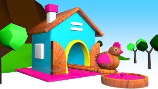 Colorful Chicks Hatching from Surprise Eggs | Learn Colors with Animals | HA HA Kids Toys