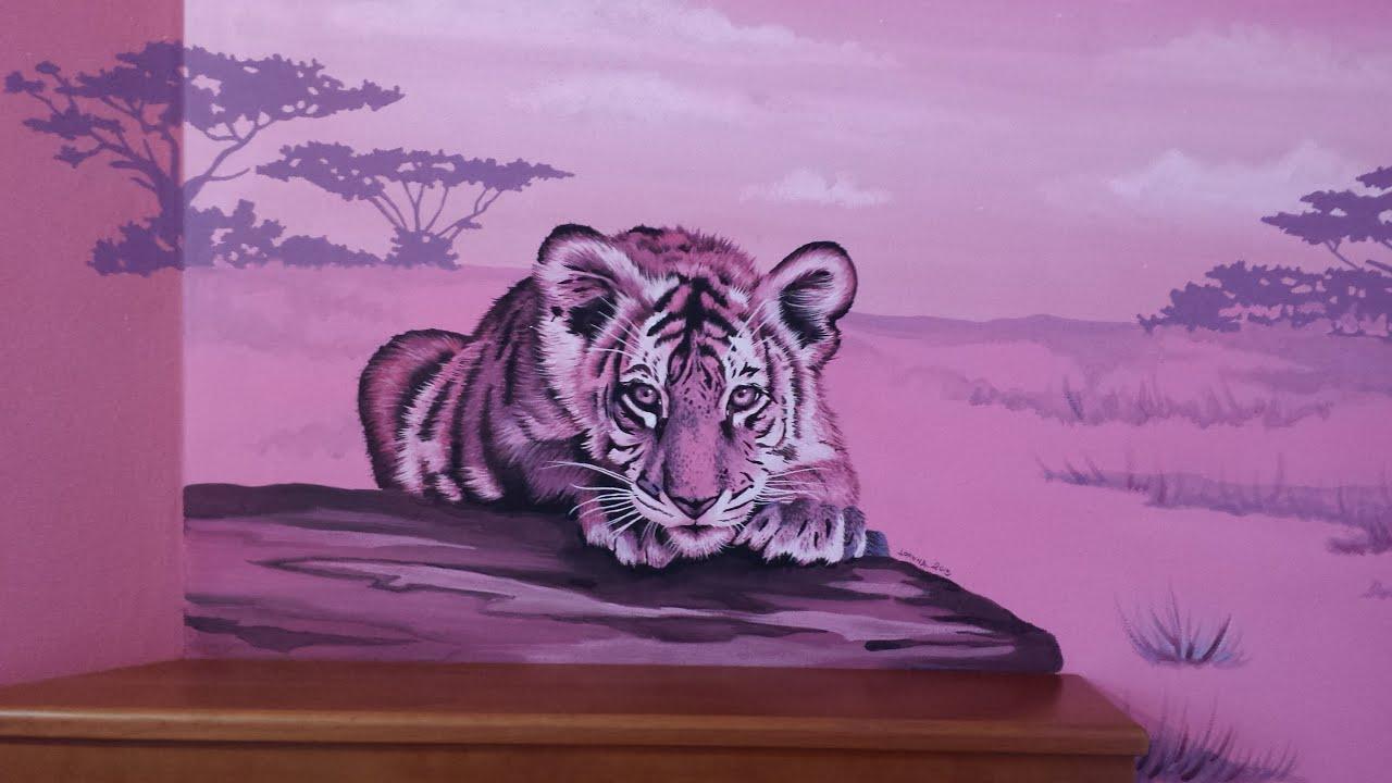 Dipinti Murali Per Camerette ultimo desiderio dipinto realizzato - cameretta savana con