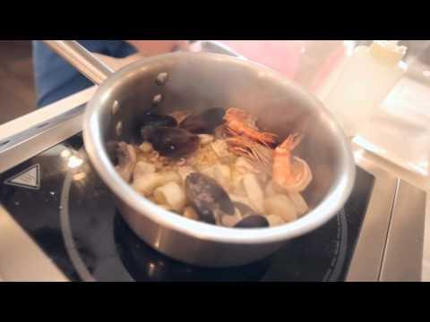 Суп с морского коктейля
