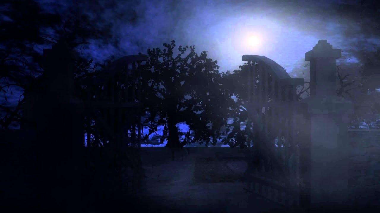 Free Snow Falling Animated Wallpaper 3d Night Scene Graveyard Teaser Animation Youtube