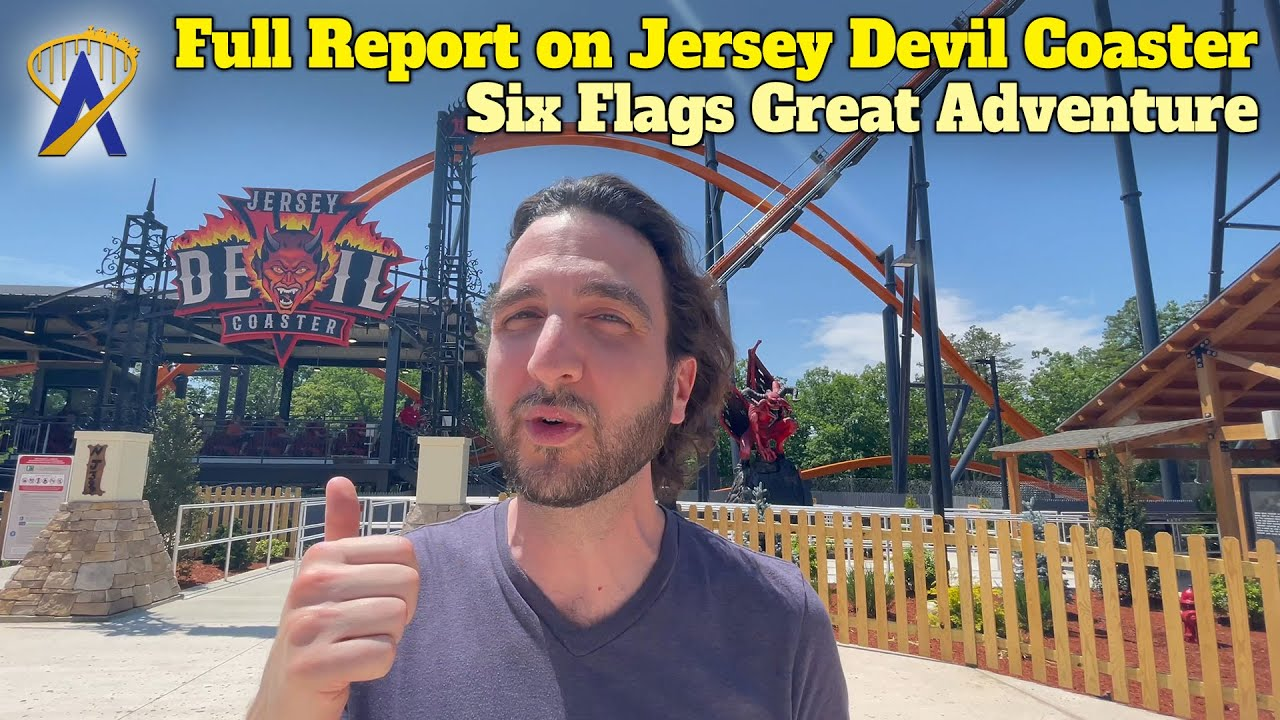 Show Report And Interview For Jersey Devil Coaster At Six Flags Great Adventure Youtube