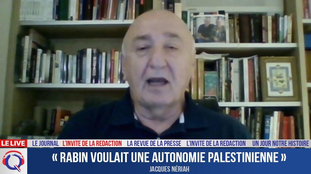 « Rabin voulait une autonomie palestinienne » - L'invité du 18 octobre 2021