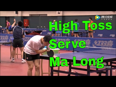 High Toss Serve Table Tennis of Ma Long