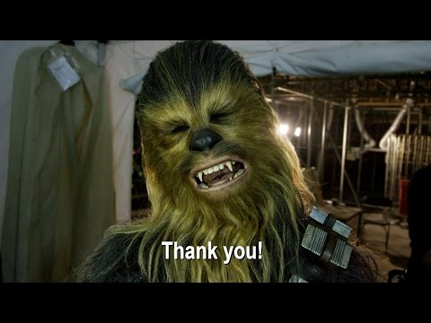 Thank you from the set of Star Wars: The Force Awakens!