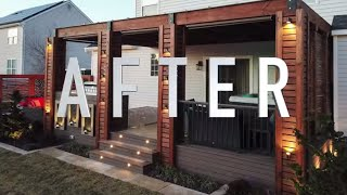 Modern Deck Pergola Patio And Fire Pit Full Build Time Lapse- Zen Backyard Transformation 2021