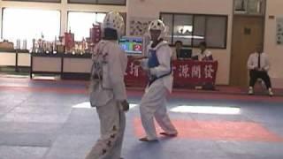 陳詩欣vs陳曉雯:2003年國立台灣體育大學移地訓練跆拳道比賽實況