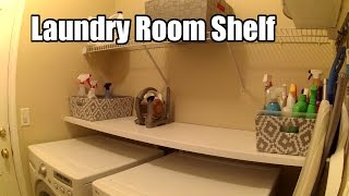 DIY Laundry Room Shelf