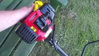 видео 4-тактная бензокоса Красная Звезда