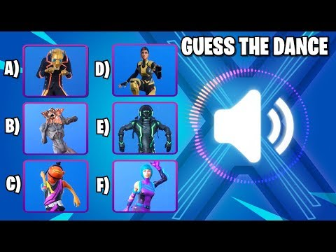 FORTNITE CHALLENGE #2 GUESS THE DANCE | FORTNITE QUIZ  | SEASON X