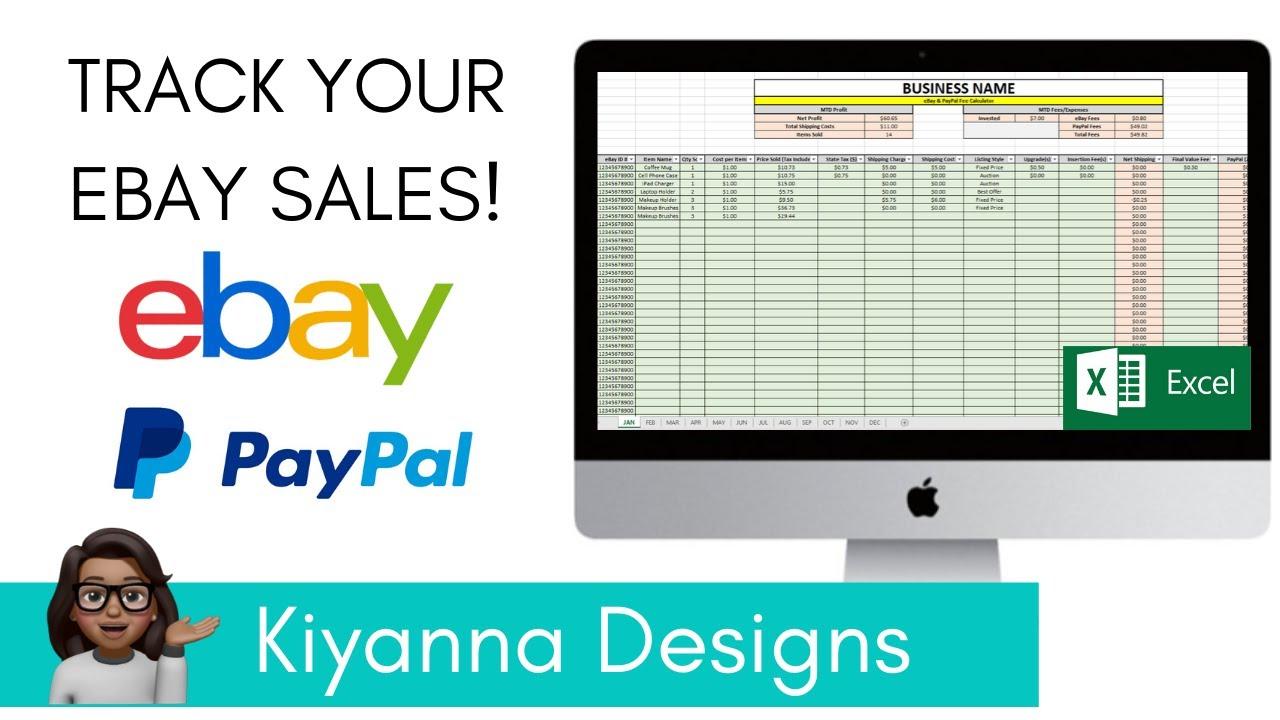 Track Your Ebay Sales Ebay Paypal Profit Fee Calculator Youtube
