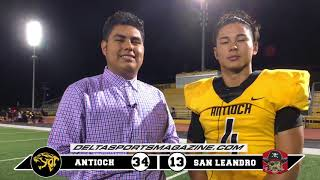 Football: Antioch Panthers vs San Leandro Pirates 08 31 2018 (HD version)