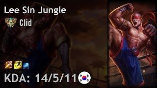 Lee Sin Jungle vs Elise - Clid - KR Challenger Patch 7.19