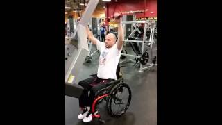 Wheelchair workout. Moivation