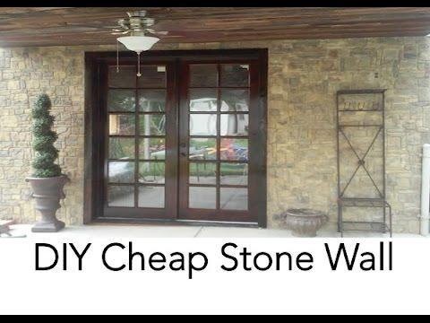DIY Cheap Stone Wall | DIYCHEAPSKATE - YouTube