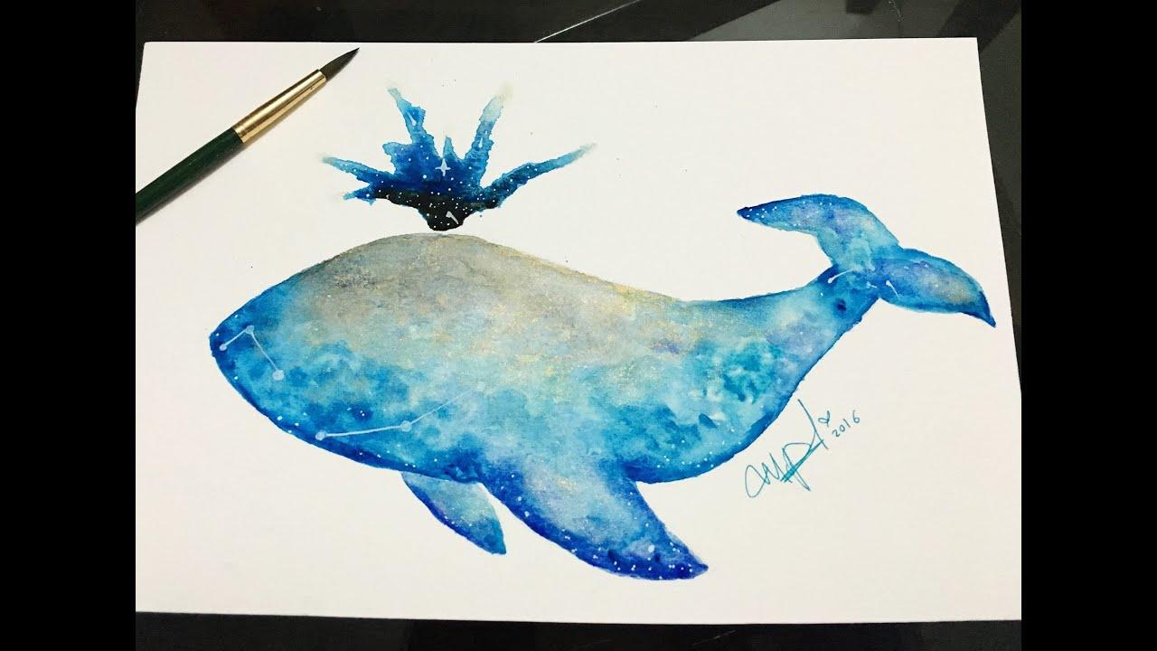 COMO DIBUJAR UNA BALLENA FANTASIA- how to draw whale ...