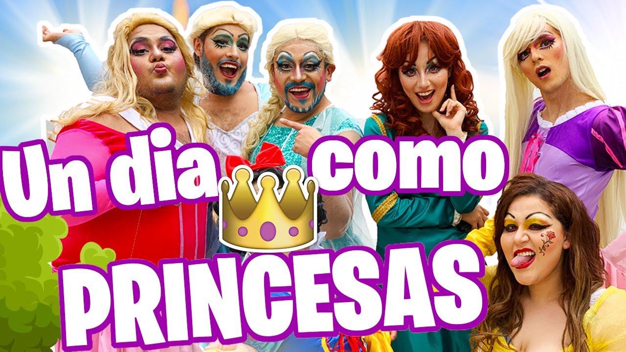 UN DIA COMO LAS PRINCESAS DISNEY DRAG !!/ Memo Aponte
