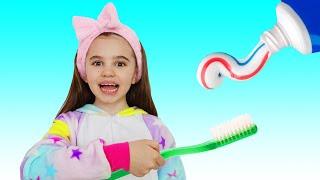 Brush your Teeth song | Morning Routine with Polina Fun | 동요와 아이 노래 | 어린이 교육