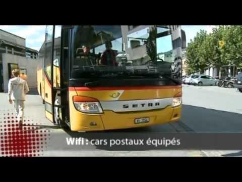 Le WiFi gratuit dans les bus de CarPostal dans le Valais romand