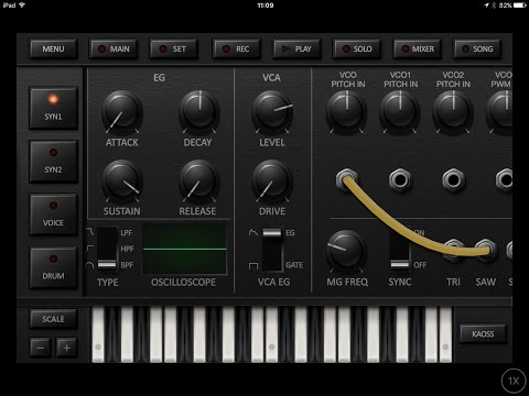 Korg iDS 10, Demo and Tour for iPhone and iPad