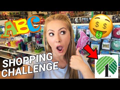 ABC DOLLAR TREE SHOPPING CHALLENGE! *OMG*