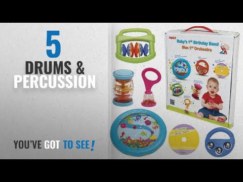 Top 10 Drums & Percussion [2018]: Halilit Baby's First Birthday Band Musical Instrument Gift Set