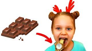 Шоколадный челлендж, настоящее или шоколад на канале Лисенок Алисенок