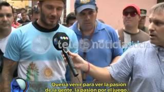 فيديو - بيكام يخوض مباراة مع أطفال فقراء في الأرجنتين