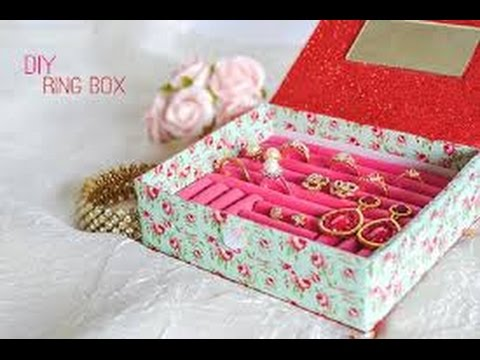 DIY: Easy to Make Jewellery Box and Statement Ring Storage Box, Great Gift Idea 2017