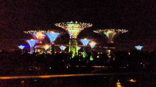 Gardens by the Bay, OCBC Skyway Lights Show, Singapore