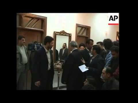 Talabani and Hakim presser on possible coalition