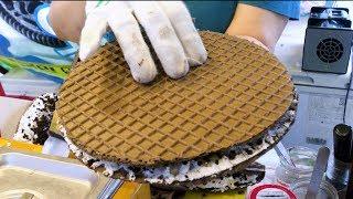 와플 달인, 대학로 오레오 와플, 오레오 아이스크림, 오레오 씬즈, Waffle master, Oreo Waffle,  thinnest waffle, icecream waffle