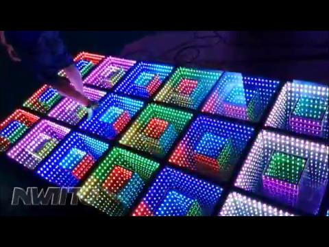 Dj disco panel tile portable 3D toughened glass light up led dance ...