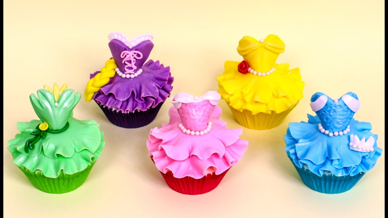 Princess Cupcake Images : DIY Disney Princess CUPCAKES - How to make by ...