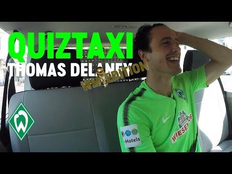 World Cup Quiz Taxi mit Thomas Delaney | SV Werder Bremen