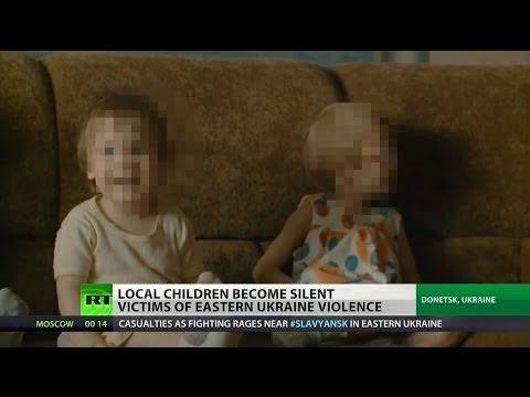 Children suffering from violence in eastern Ukraine