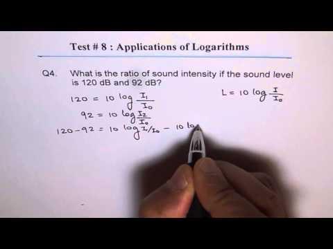 Ratio of Sound Intensity Log Application Q4