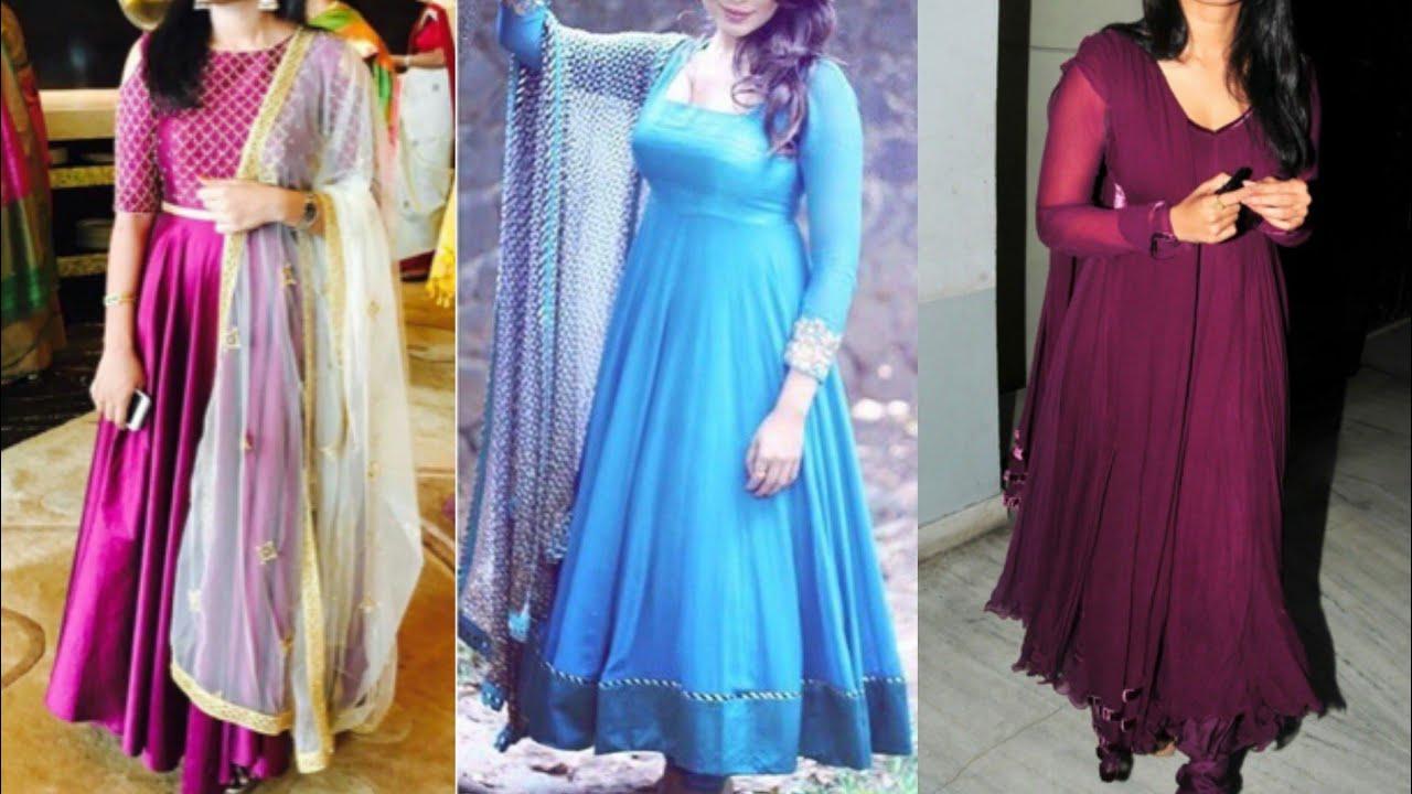 Plain simple anarkali suit design ideas for Indian wedding season ...