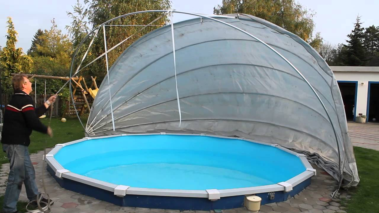 Kertex pool cabriodach zughilfe youtube for Swimming pools bei obi