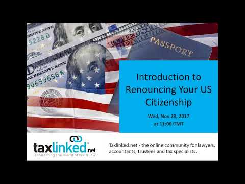 Introduction to Renouncing Your US Citizenship