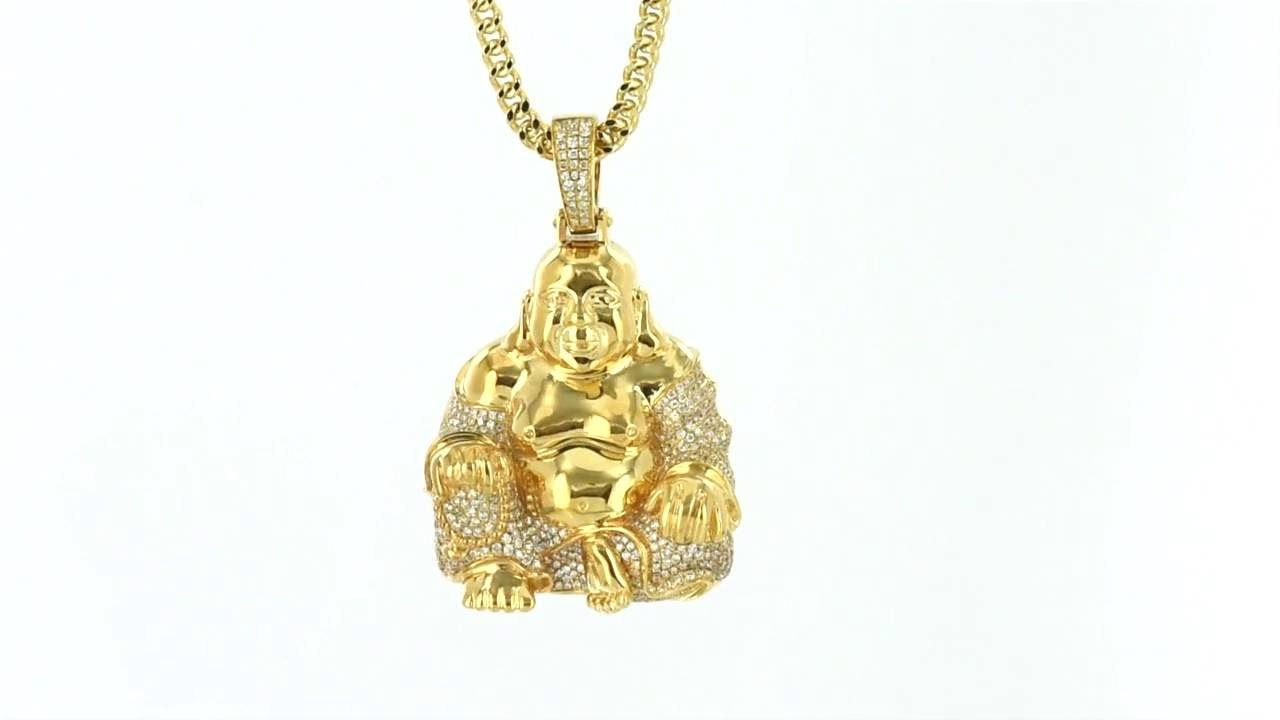 14k solid real gold asian religious buddha god pendant genuine 14k solid real gold asian religious buddha god pendant genuine diamonds item no 5621 aloadofball