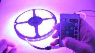 RGB Контроллер 24 кнопки, мини(RGB контроллер для светодиодной ленты 24 кнопки. Инфракрасный с мини приемником. Прочитать подробнее или..., 2014-05-27T19:45:02.000Z)