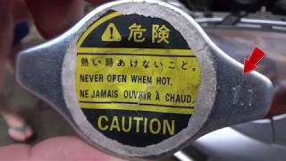 Крышка, пробка радиатора или расширительного бачка.  Клапан не держит давление.  Как проверить
