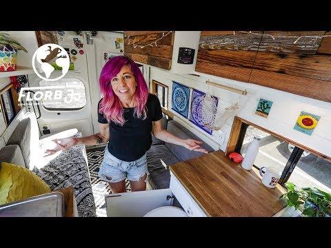 Solo Female Traveler Creates Versatile Van Dwelling and Starts Full Time Van Life