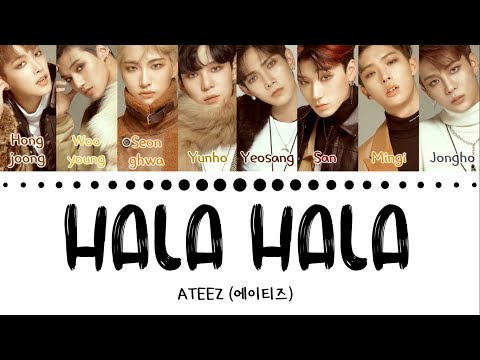 ATEEZ (에이티즈) - 'HALA HALA' (Hearts Awakened, Live Alive) (Color Coded Lyrics Eng/Han/Rom/가사)