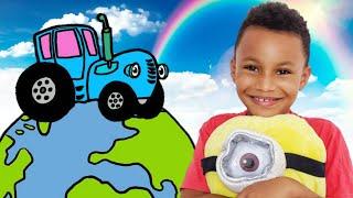 Крис и Синий трактор едет к друзьям из разных стран