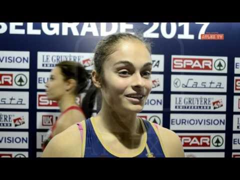 Evropsko prvenstvo u dvorani, Beograd 2017 - izjava Milice Emini nakon trke
